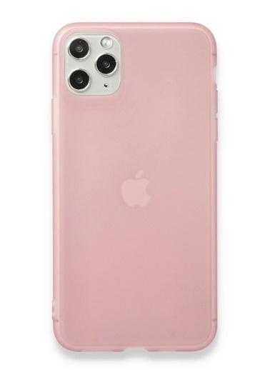 MobilCadde Eiroo Frosty iPhone 11 Pembe Silikon Kılıf Pembe